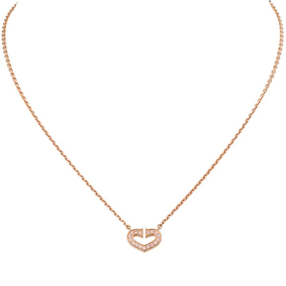9c85104c8b3d3 Cartier C Heart Rose Gold & Diamond necklace